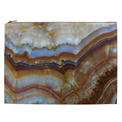 Wall Marble Pattern Texture Cosmetic Bag (xxl)