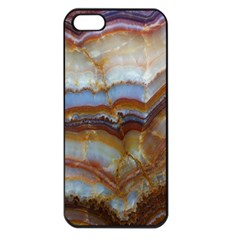Wall Marble Pattern Texture Apple Iphone 5 Seamless Case (black)