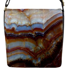 Wall Marble Pattern Texture Flap Messenger Bag (s)