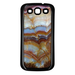 Wall Marble Pattern Texture Samsung Galaxy S3 Back Case (black)