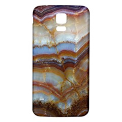 Wall Marble Pattern Texture Samsung Galaxy S5 Back Case (white)