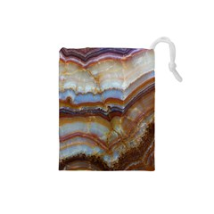 Wall Marble Pattern Texture Drawstring Pouches (small)