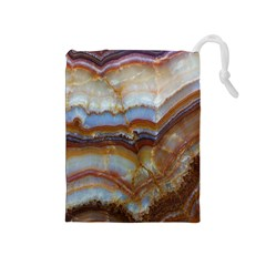 Wall Marble Pattern Texture Drawstring Pouches (medium)