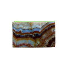 Wall Marble Pattern Texture Cosmetic Bag (xs)