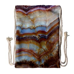 Wall Marble Pattern Texture Drawstring Bag (large)