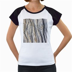 Texture Structure Marble Surface Background Women s Cap Sleeve T