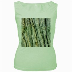 Texture Structure Marble Surface Background Women s Green Tank Top