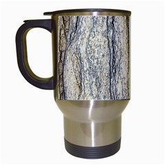 Texture Structure Marble Surface Background Travel Mugs (white)