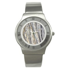 Texture Structure Marble Surface Background Stainless Steel Watch