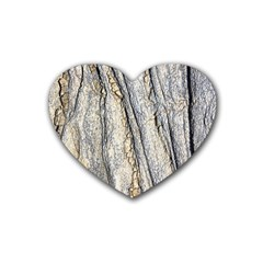 Texture Structure Marble Surface Background Heart Coaster (4 Pack)