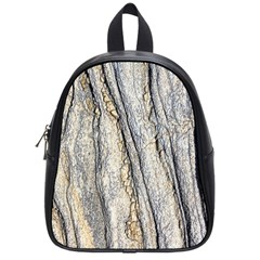 Texture Structure Marble Surface Background School Bag (small)