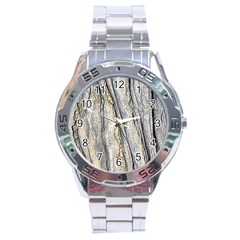 Texture Structure Marble Surface Background Stainless Steel Analogue Watch