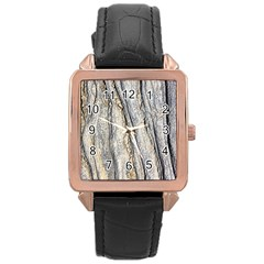 Texture Structure Marble Surface Background Rose Gold Leather Watch