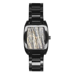 Texture Structure Marble Surface Background Stainless Steel Barrel Watch