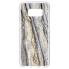 Texture Structure Marble Surface Background Samsung Galaxy S8 White Seamless Case