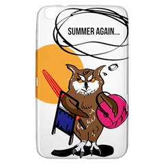 Owl That Hates Summer T Shirt Samsung Galaxy Tab 3 (8 ) T3100 Hardshell Case