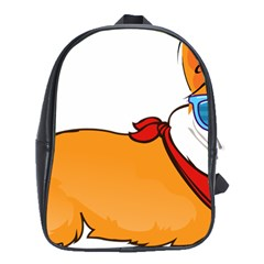Corgi With Sunglasses And Scarf T Shirt School Bag (xl)