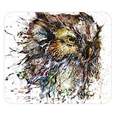 Angry And Colourful Owl T Shirt Double Sided Flano Blanket (small)