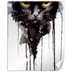 Angry Cat T Shirt Canvas 16  X 20