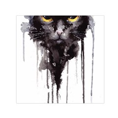 Angry Cat T Shirt Small Satin Scarf (square)