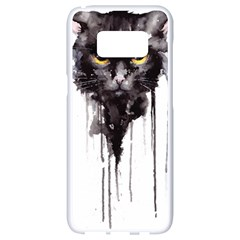 Angry Cat T Shirt Samsung Galaxy S8 White Seamless Case