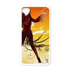 Girl Autumn Grass  Apple Iphone 4 Case (white)