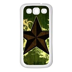 Star Dark Pattern  Samsung Galaxy S3 Back Case (white)