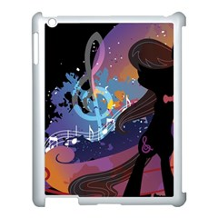 Black Octavia Stream Wall  Apple Ipad 3/4 Case (white)