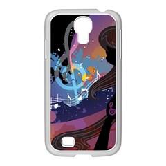 Black Octavia Stream Wall  Samsung Galaxy S4 I9500/ I9505 Case (white)
