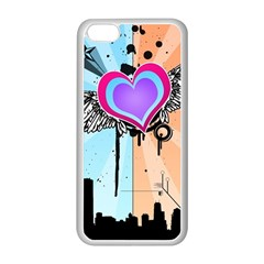 Couple Hugging Heart Apple Iphone 5c Seamless Case (white)
