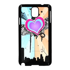 Couple Hugging Heart Samsung Galaxy Note 3 Neo Hardshell Case (black)