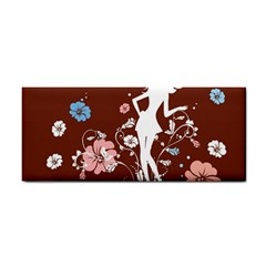Girl Flowers Silhouette  Cosmetic Storage Cases