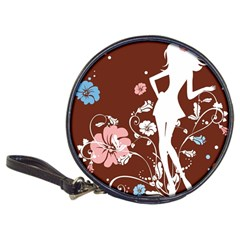 Girl Flowers Silhouette  Classic 20 Cd Wallets