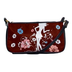 Girl Flowers Silhouette  Shoulder Clutch Bags