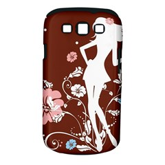 Girl Flowers Silhouette  Samsung Galaxy S Iii Classic Hardshell Case (pc+silicone)