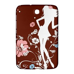 Girl Flowers Silhouette  Samsung Galaxy Note 8 0 N5100 Hardshell Case