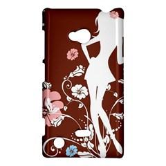 Girl Flowers Silhouette  Nokia Lumia 720