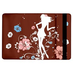Girl Flowers Silhouette  Ipad Air Flip