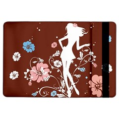 Girl Flowers Silhouette  Ipad Air 2 Flip