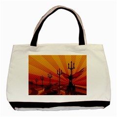 Wings Drawing Poles  Basic Tote Bag (two Sides)
