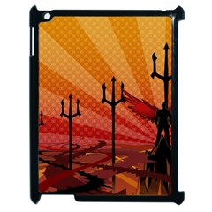 Wings Drawing Poles  Apple Ipad 2 Case (black)