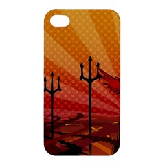 Wings Drawing Poles  Apple Iphone 4/4s Hardshell Case