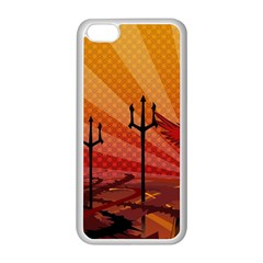Wings Drawing Poles  Apple Iphone 5c Seamless Case (white)