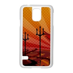 Wings Drawing Poles  Samsung Galaxy S5 Case (white)