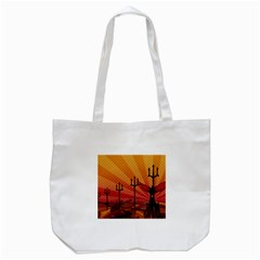 Wings Drawing Poles  Tote Bag (white)