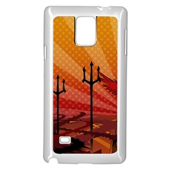 Wings Drawing Poles  Samsung Galaxy Note 4 Case (white)
