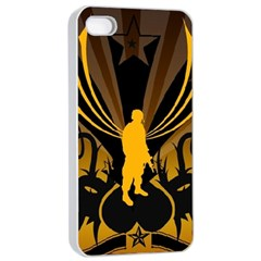 Soldiers Army Line  Apple Iphone 4/4s Seamless Case (white)