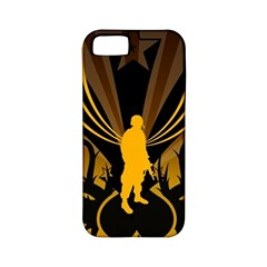 Soldiers Army Line  Apple Iphone 5 Classic Hardshell Case (pc+silicone)
