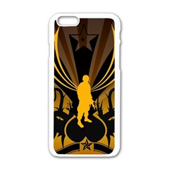 Soldiers Army Line  Apple Iphone 6/6s White Enamel Case