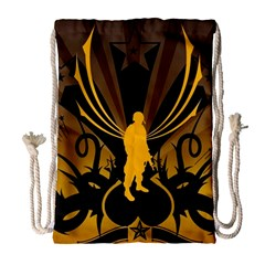 Soldiers Army Line  Drawstring Bag (large)